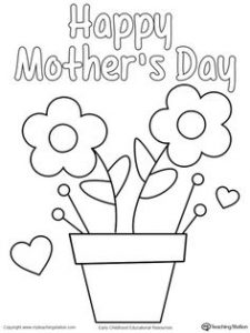Free Mother's Day Cards to Color and Print