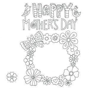 Free Mother's Day Printable Cards to Color