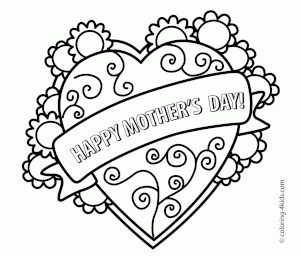 Free Printable Coloring Mother's Day Cards