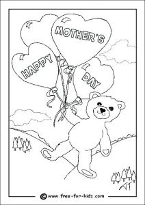 Free Printable Mother's Day Cards Coloring Pages