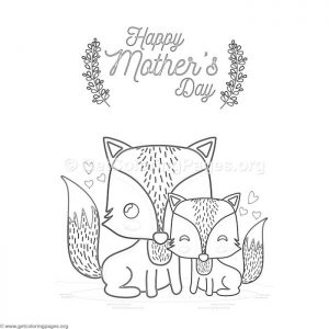 Happy Mother's Day Cards for Coloring
