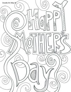 Mother's Day Coloring Sheets Cards