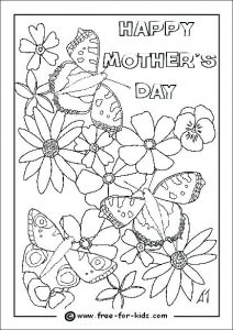 Printable Coloring Mother's Day Cards for Grandma