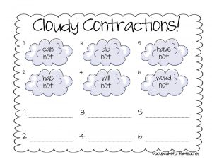 Teaching Spelling Contractions Worksheets