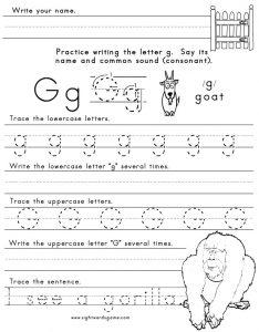 Letter G Sound Worksheet