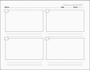 Presentation Picture Book Storyboard Template to Print