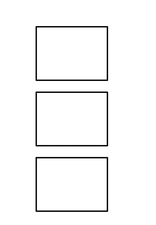 3 Panel Storyboard Template