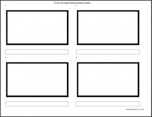 4 Panel Storyboard Template