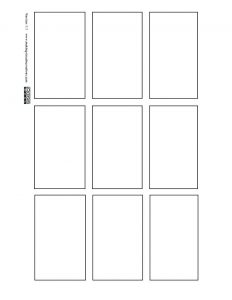 Comic Strip Template with Lines