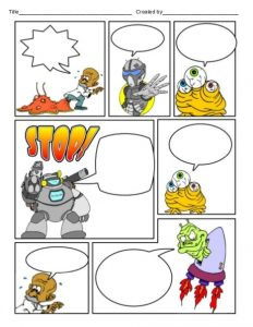 Comic Strip Template with Pictures