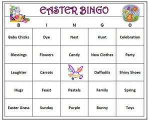 Free Easter Bingo for Adults