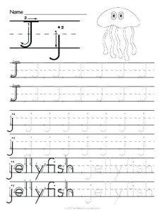 Free Letter J Worksheets For Kindergarten