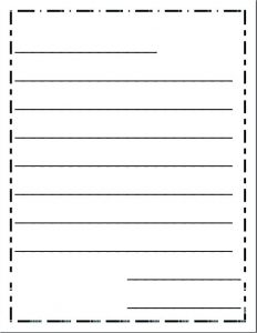 Friendly Letter Writing Paper Template
