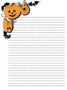 Halloween Letter Writing Paper