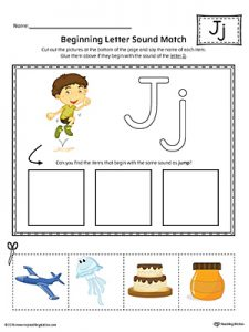 Letter J Cut and Paste Worksheet