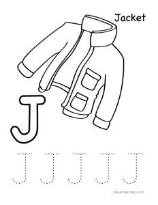 Letter J Worksheets for Toddlers