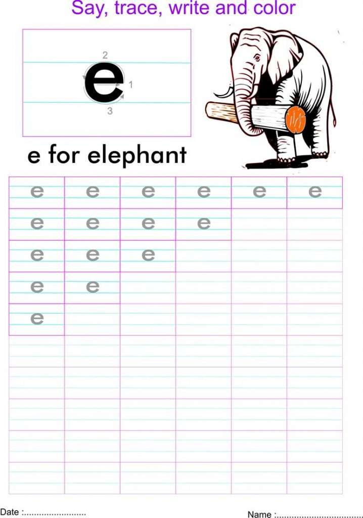 32 Fun Letter E Worksheets   Kitty Baby Love