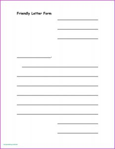 Primary Friendly Letter Writing Paper