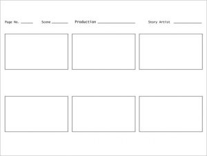 Storyboard Template 6 Panel