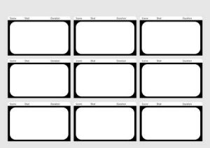 Storyboard Template 9 Boxes