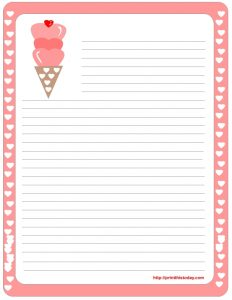 Valentine Letter Writing Paper
