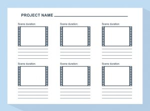Video Production Script Storyboard Template