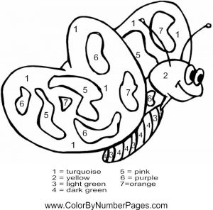 Butterfly Coloring Pages by Number