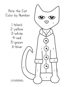 Cat Color by Number Printable