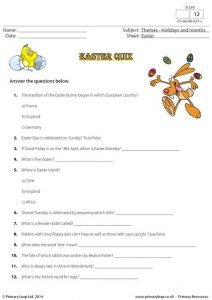 Easter Candy Trivia Questions and Answers