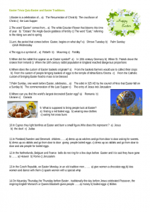 Easter Holiday Fun Trivia Questions Quiz