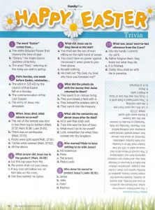 Easter Trivia Questions and Answers Printable
