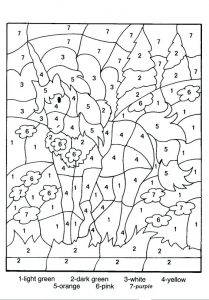 Free Color by Number Animals