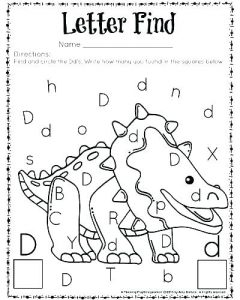 Free Printable Color by Letter Worksheets