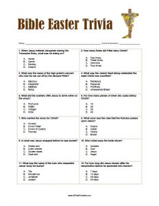 Free Printable Easter Bible Trivia for Adults
