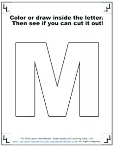 Letter M Cut And Paste Worksheets