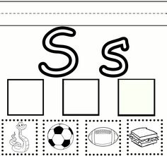 Letter S Cut and Paste Worksheet