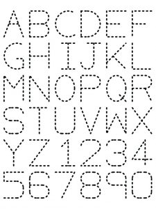 Printable Tracing Letters