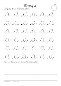 Trace Over Single Letters Worksheets
