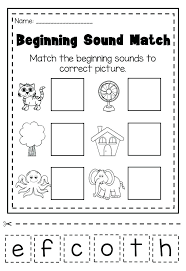 Beginning Sounds Cut and Paste Worksheets Free