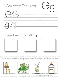 Free Beginning Letter Sounds Cut and Paste Worksheets