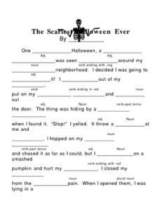 Halloween Mad Libs for 4th Graders