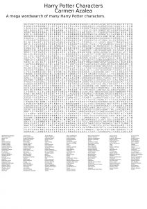 Harry Potter Character Word Search