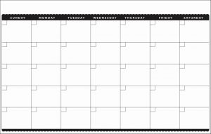 Blank Monthly Calendar Pages Sheets Monday through Friday
