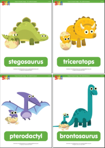 Dinosaur Flashcards for Toddlers