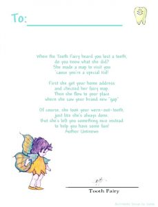 Free Editable Tooth Fairy Letter