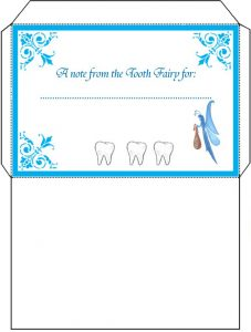 Free Printable Tooth Fairy Letter and Envelope