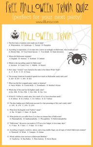 Halloween Trivia for Kids