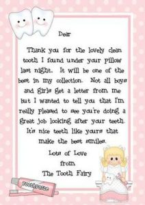 Last Tooth Fairy Visit Letter