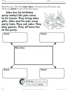 Main Idea and Theme Worksheets