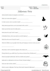Printable Halloween Trivia Games Free